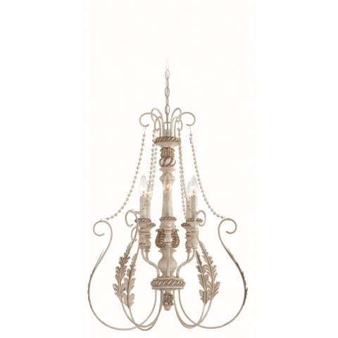 Craftmade Exteriors Zoe - Antique Linen 6 Light Foyer in Antique Linen