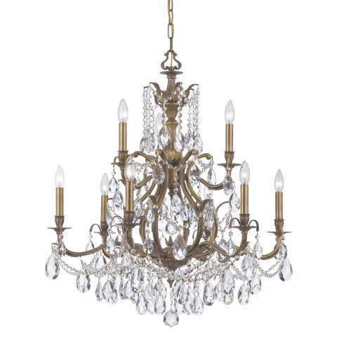Crystorama 5579-AB-CL-S Swarovski Elements Chandelier