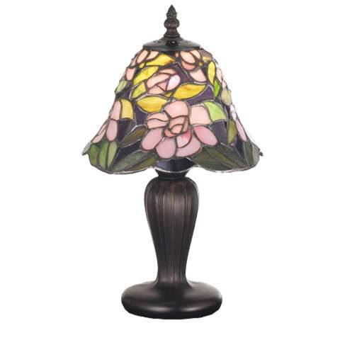 Meyda Tiffany 70250 Begonia Mini Lamp in Copperfoil finish