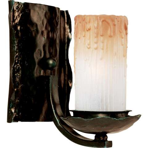 Maxim 10970WSOI Notre Dame 1-Light Wall Sconce in Oil Rubbed Bronze with Wilshire glass.