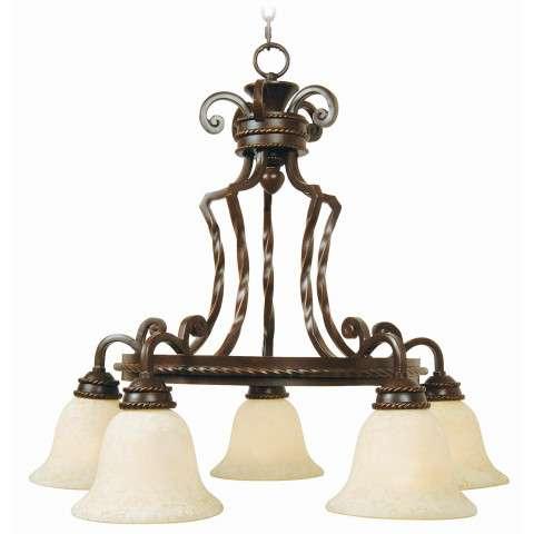 Craftmade Exteriors Riata - Aged Bronze 5 Light Chandelier in Aged Bronze
