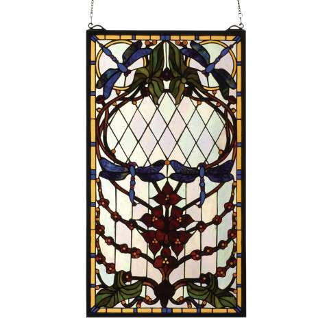 Meyda Tiffany 77734 Dragonfly Allure Stained Glass Window