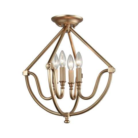 Stanton 4 Light Semi Flush In Matte Gold