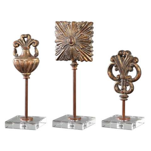 Uttermost Cesare Gold Accessories - S/3