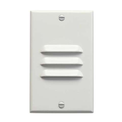 Kichler 12606WH LED Step Light Vertical Louver in White.