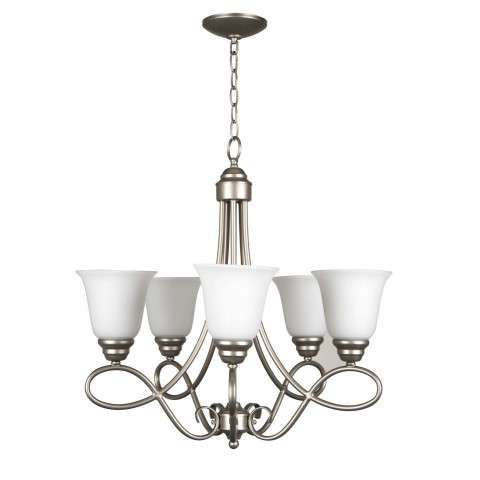 Cordova - 5 Light Chandelier - Satin Nickel