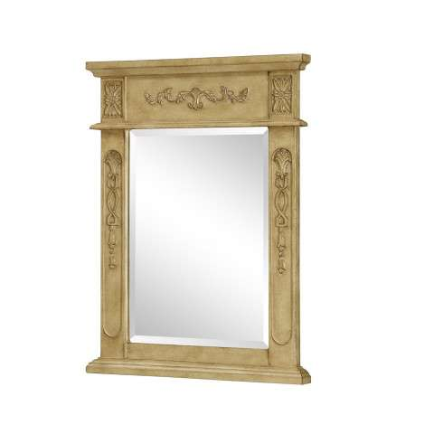 "Vanity Mirror 22"" x 28"" Antique Beige"