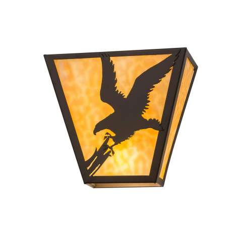 Meyda Tiffany 23952 Strike Of The Eagle Wall Sconce in Timeless Bronze finish
