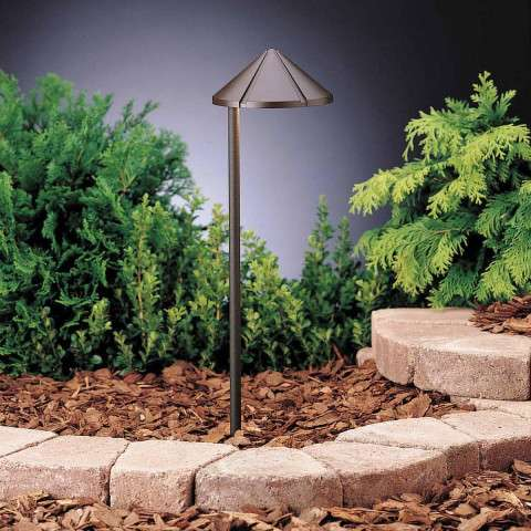 Kichler 15315AZT6 Path & Spread 1-Lt 12V in Textured Architectural Bronze.