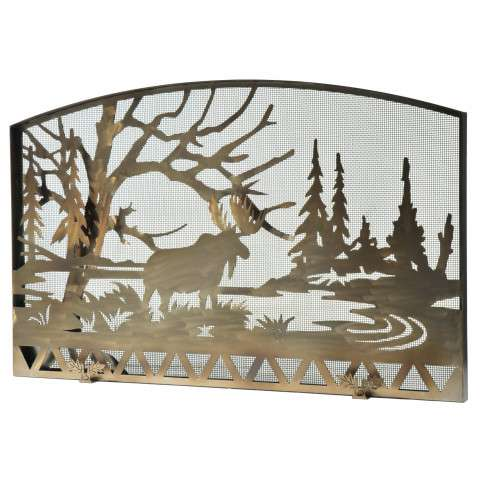 "Moose Creek Fireplace Screen - 61"" Wide x 38"" Tall"