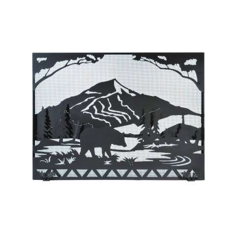 "Bear Creek Fireplace Screen - 49"" Wide x 36"" Tall"