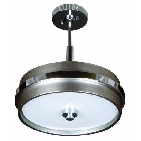 Craftmade Exteriors 5Th Avenue - Brushed Nickel/Chrom 3 Light Small Pendant in Brushed Nickel/Chrom