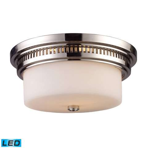 Chadwick 2-Light Flush Mount In Polished Nickel - LED - 800 Lumens (1600 Lumens Total) With Full S…