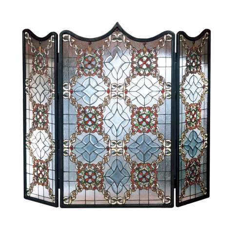 "Tiffany Beveled Victorian 2 - 44"" Wide x 36"" Tall"