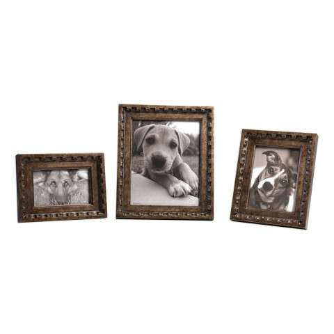 Kalya Antiqued Bronze Photo Frames S/3