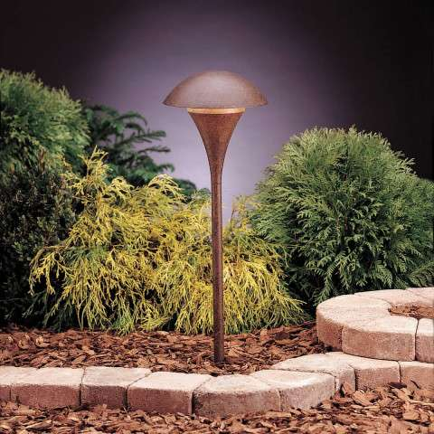 Kichler 15236TZT Path & Spread 1-Lt 120V in Textured Tannery Bronze.