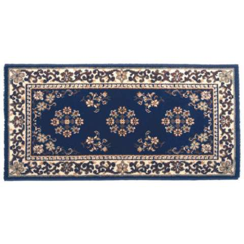 Oriental Hearth Rug - Rectangular - Blue