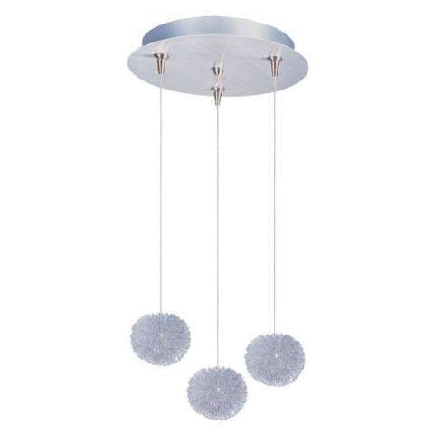 ET2 Contemporary Lighting E94620-AL Clipp 3-light Multi-Light Pendant in Brushed Aluminum finish