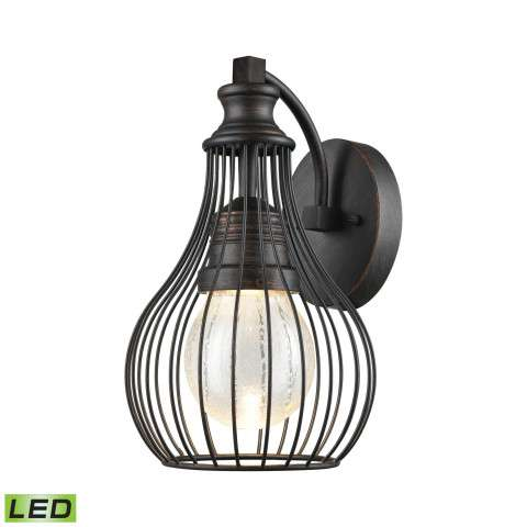 Osage Outdoor LED Wall Sconce In Weathered Charcoal