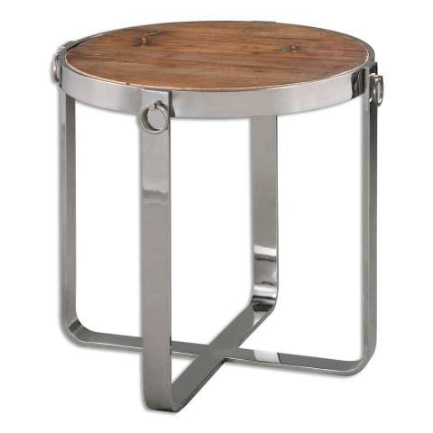 Uttermost Berdine Wooden Side Table