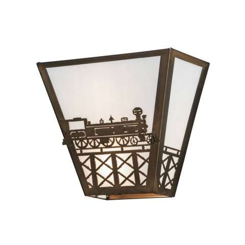 Meyda Tiffany 23910 Train Wall Sconce in Antique Copper finish