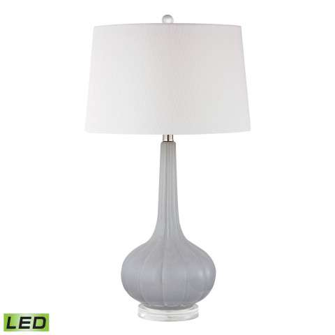 Abbey Lane LED Table Lamp In Pastel Blue With White Shade
