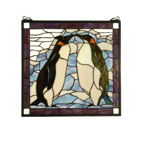 Meyda Tiffany 71599 Penguin Stained Glass Window