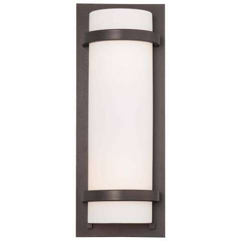 Minka Lavery 2 Light Wall Sconce In Smoked Iron Finish W/Etched Opal Glass