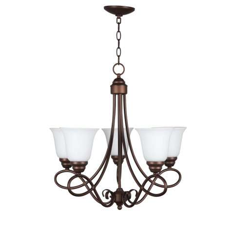 Cordova - 5 Light Chandelier - Oiled Bronze