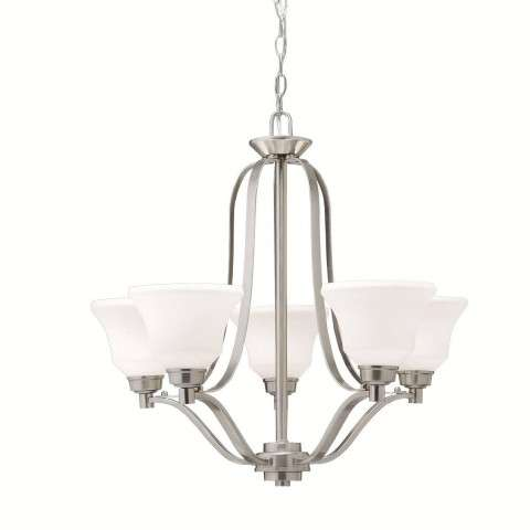 Kichler 1783NI Chandelier 5Lt in Brushed Nickel.