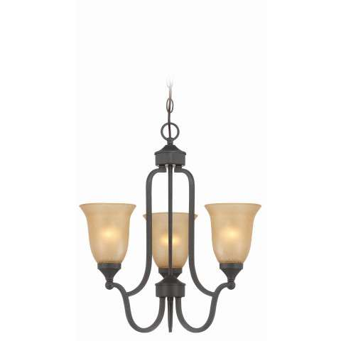 Craftmade Exteriors Edgefield - Oil Rubbed Bronze 3 Light Foyer in Oil Rubbed Bronze