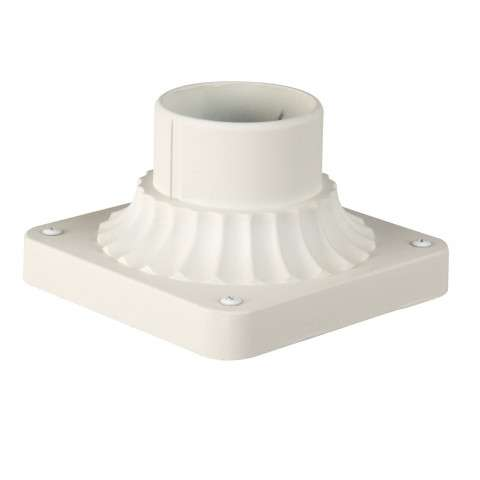 Craftmade Exteriors Pier Base - Matte White Pole Adapter in Matte White