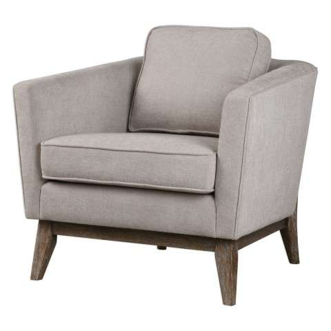 Varner Beige Linen Accent Chair