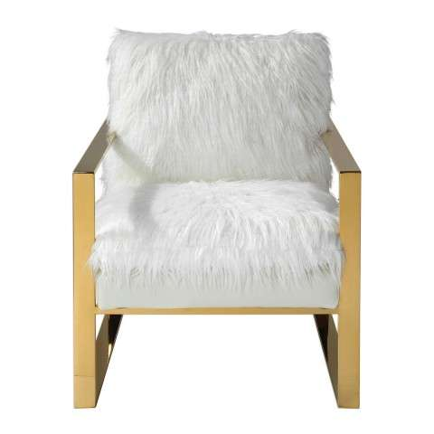 Delphine White Accent Chair