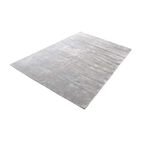 Auram Handwoven Viscose Rug In Silver - 5ft x 8ft