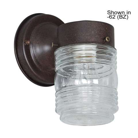 Sunset Lighting F4600-31 7 inch Porch Fixture Wall Mount Clear Jar in Black Finish