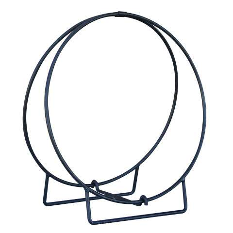 "Uniflame W-1890 24"" Black Log Hoop - 1/2"" Solid Stock"