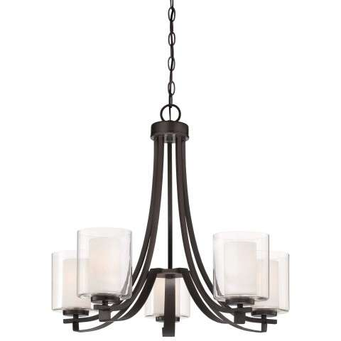Other Chandelier Fixtures 5Lt Ch In Smoked Iron