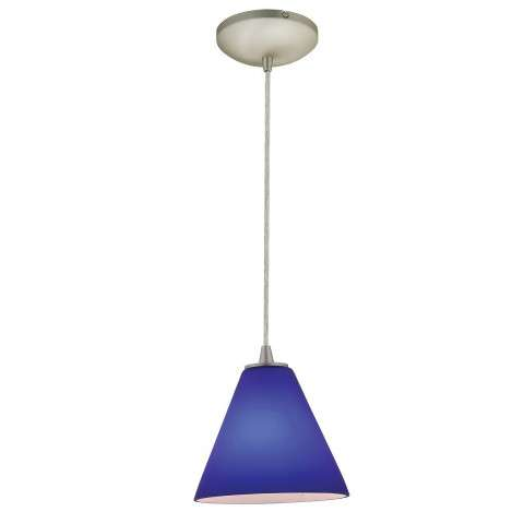 Access Lighting 28004-1C-BS/COB Sydney Inari SilkOriental Glass Pendantin Brushed Steel finish