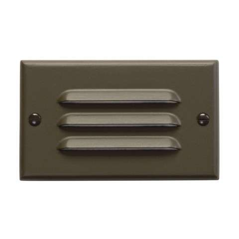 Kichler 12600AZ LED Step Light Horiz. Louver in Architectural Bronze.