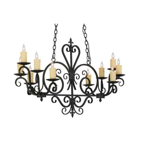 "42"" L Kenneth 10 Lt Oblong Chandelier. Custom Crafted In Yorkville - New York Please Allow 30 Days"