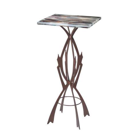 Meyda Tiffany 108003 Marina Fused Glass Table in Cafe Noir finish