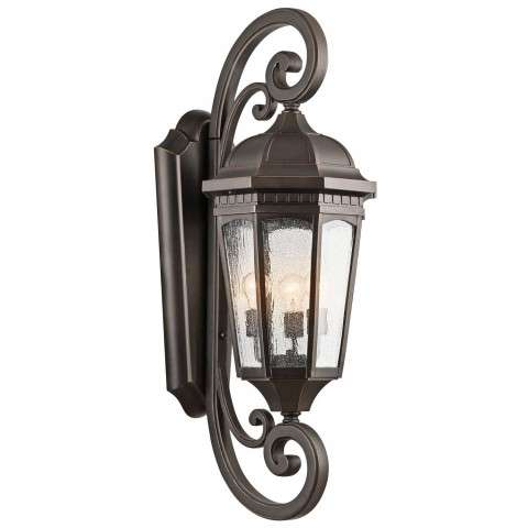 Courtyard - Outdoor Wall 3Lt - Rubbed Bronze