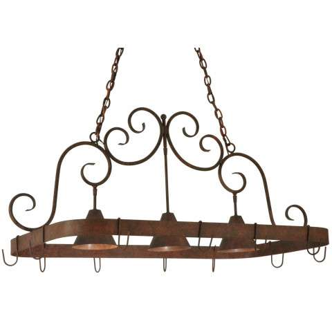 "46""L Elana 3 Lt Pot Rack"