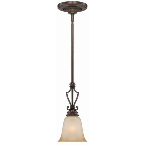 Craftmade Exteriors Josephine - Aged Bronze W/Gold 1 Light Mini Pendant in Aged Bronze W/Gold