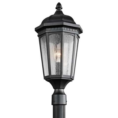 Courtyard - Outdoor Post Mt 1Lt - Textured Black