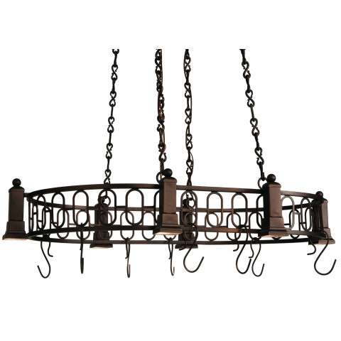 Meyda Tiffany 121343 Deco Oblong Pot Rack in Mahogany Bronze finish