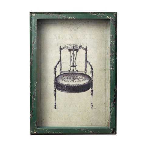 Sterling Furnishings 128-1027 Picture Frame With French Antique Chair Print
