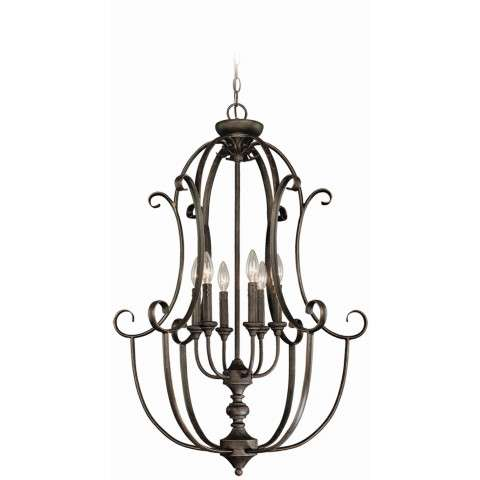 Craftmade Exteriors Barrett Place - Mocha Bronze 6 Light Foyer in Mocha Bronze