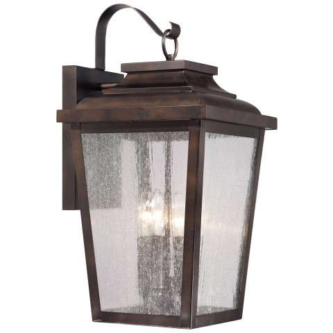 The Great Outdoors 4 Light Wall Mount In Chelesa Bronze™ Finish W/Clear Seeded Glass